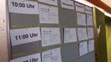 """Foto von Gabriele Fahrenkrog für OERfinfo unter CC BY 4.0: """"Sessionplan zum OERCamp Süd im FWU"""""""